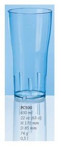 Ölglas/drinkglas, 63 cl.