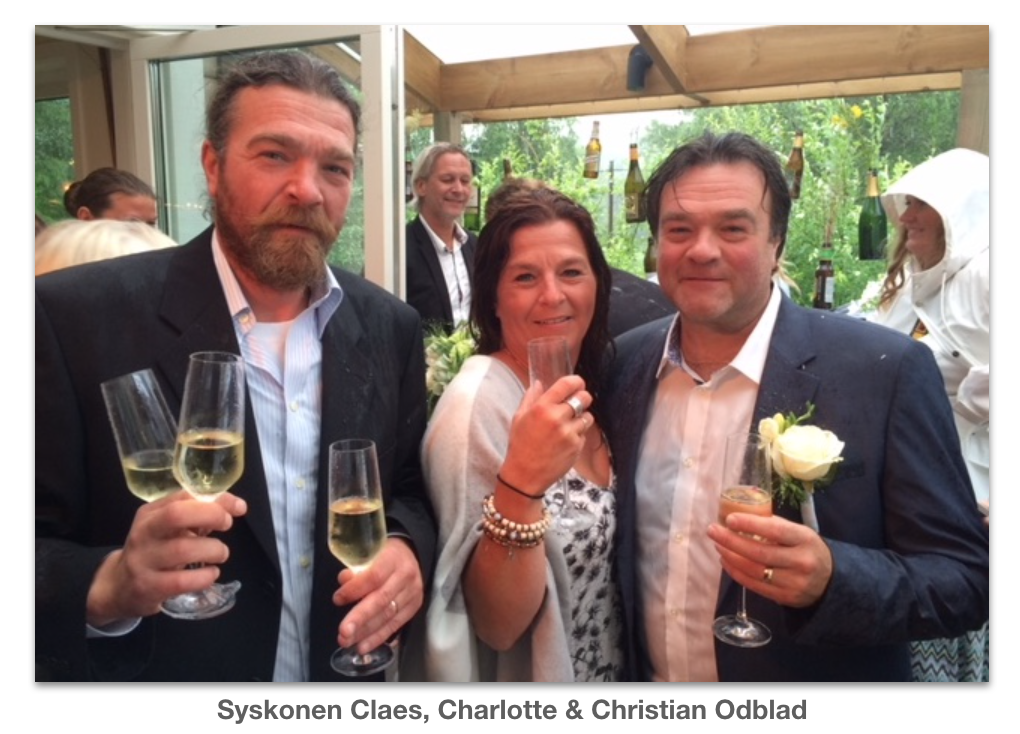 Syskonen Claes Charlotte och Christian Odblad