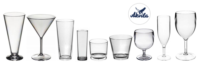 Akvila - okrossbara dricksglas & engångsbestick